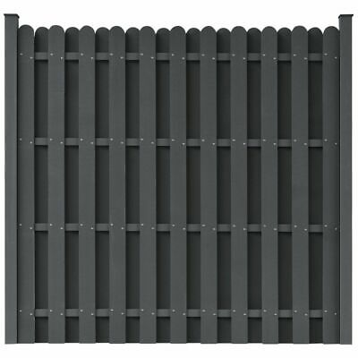 vidaXL WPC Fence Panel with 2 Posts 180x180cm Square Grey Enclosure Barrier