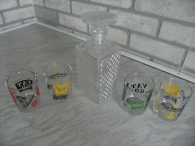 Drinks decanter and 4x glasses. Only £2.50/item !