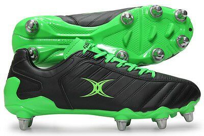 Clearance Line New- Gilbert Rugby- Evo Ii Rugby Boots- Black Green -Size 14