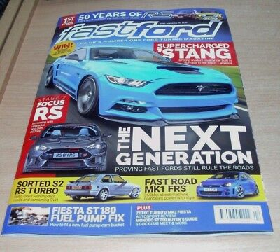 Fast Ford magazine APR 2018 Supercharged 'Stang, 50 Years of RS, MK1 FRS & more