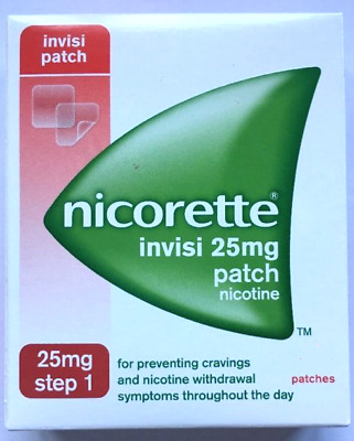 Nicorette Invisi Step 1 patches L Family pack! 40 patches FREE P&P Just Grab!