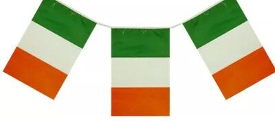 12ft ST PATRICKS DAY FLAG BUNTING IRELAND IRISH PARTY DECORATIONS RUGBY