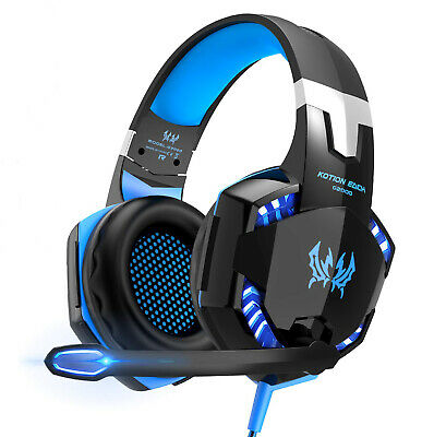 3.5mm Gaming Headset MIC LED Stereo Surround G2000 for PC Laptop PS4 Xbox One X