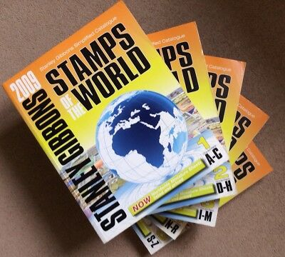 Stanley Gibbons Stamps of the World simplified Catalogues 2009 - 5 Volumes