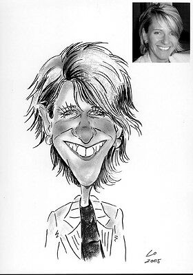 Personalised Caricature of one person in A5 b/w New Year Wonderful gifts