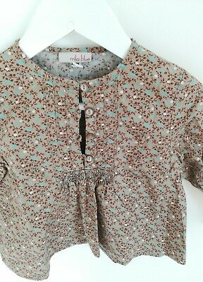 baby girl tops 12-18 months blouse Mila Blue woodland scandi style