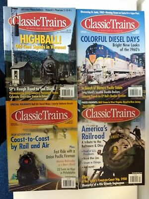 Classic Trains Magazine. 2003 full set. Four magazines. Good condition