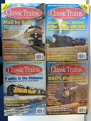 Classic Trains Magazine. 2006 Full Set. Four Magazines. Good condition