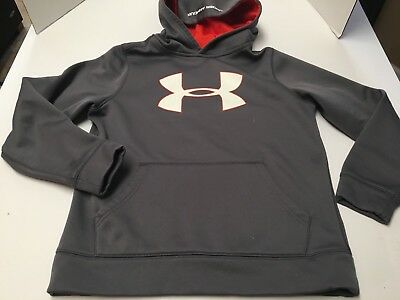 Under Armour Youth Boys Medium Gray Hoodie