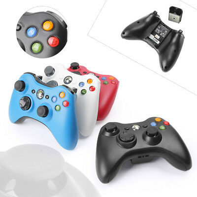 1PC Wireless Game Hand Controller For Microsoft Xbox 360 Game Pad White Red Blue