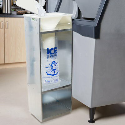 Commercial Ice Bagger 8,10, & 20 lb Bag Stainless Steel Bin Bagging Machine