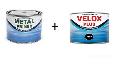 Marlin Velox Plus 0,25 lt + Metal Primer 0,25 lt Kit Antivegetativa assi eliche