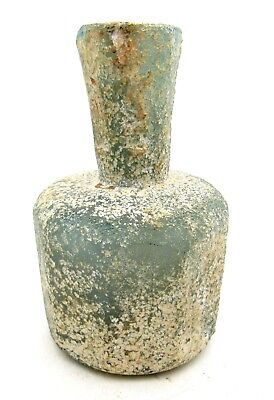 Roman Perfume Glass Bottle- Ancient Wearable Artifact Extremely Rare - L607