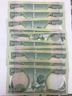 100,000 New Crisp Iraqi Dinar Uncirculated 10 X 10,000 Iqd