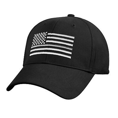 Thin Silver Line Low Profile Baseball Cap Correction Officer Support  Hat 7880
