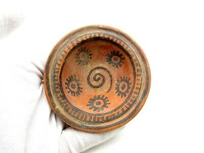 Indus Valley Terracotta Bowl W/ Geometric - Rare Artifact Lovely - L605