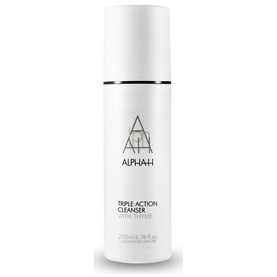 ALPHA-H Triple Action Cleanser with Thyme 200ml Pump Oil Balancing Non Foaming