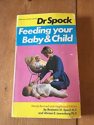 """1969 Dr Benjamin Spock """"feeding Your Baby And Child"""" Paperback Book"""