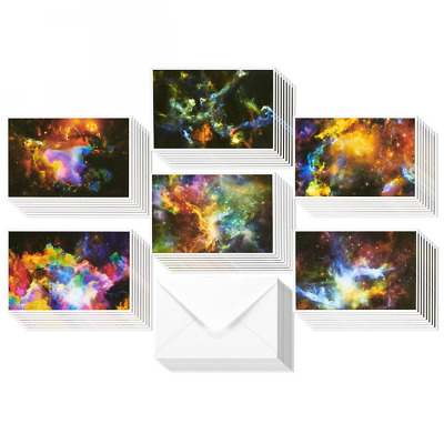 48 Pack All Occasion Assorted Blank Note Cards Greeting Cards Bulk Box Set - 6 C