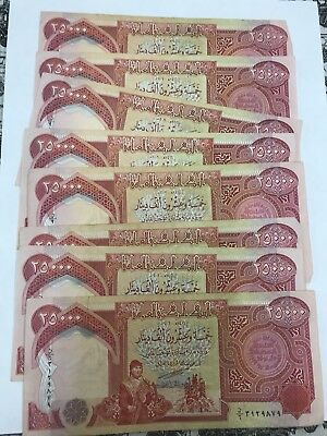 325,000 Iraqi Dinar Circulated 13 X 25,ooo Iqd
