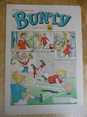 'Bunty' Collectible Vintage Comic For Girls - No.892 - February 15th, 1975 - VGC