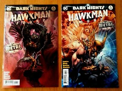Hawkman Found # 1 Cover A & B Foil  Stamp  1st Print  Metal Tie- In DC 2017 NM+
