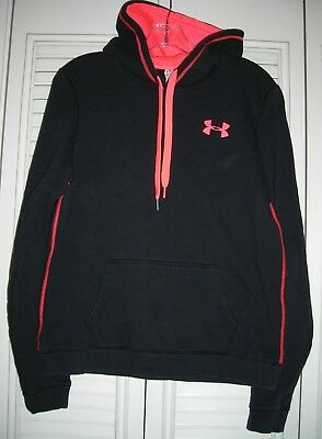 UNDER ARMOUR Womens RIVAL Semi-Fitted All Season Gear Cotton Blend Hoodie M