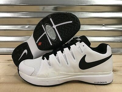 Nike Zoom Vapor 9.5 Tour Federer Tennis Shoes White Black Oreo SZ ( 631458-101 )