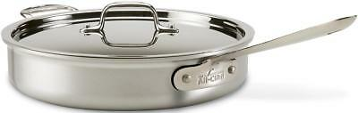 All-Clad 3qt Saute Pan with Lid 7403 MC2 Professional Master Chef 2 Stainless