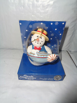 Mississippi State Quarter Snowmen With Boat Ornament - New