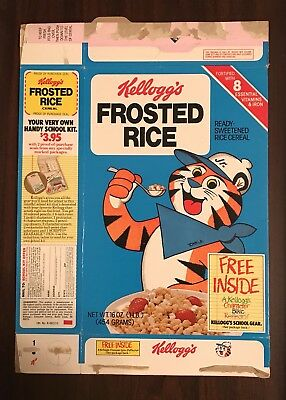 Vintage 1981 Kellogg's Frosted Rice Cereal Box Bike Reflector Premium Tony Jr.