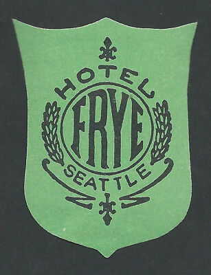 Hotel Frye SEATTLE Washington - vintage luggage label