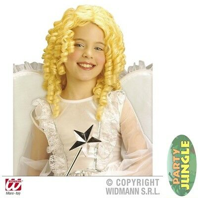 BLONDE CURLY ANGEL WIG NATIVITY CHRISTMAS Childs Kids Fancy Dress Accessory