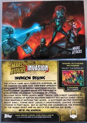 TOPPS MARS ATTACKS INVASION '0' Promo Card Rare