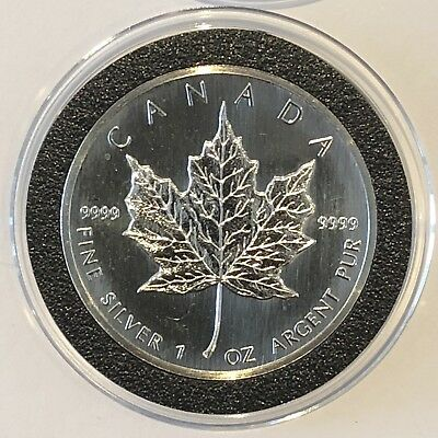 1989 Canadian Maple Leaf Canada 1 Troy Oz .9999 Fine Silver Collectible CA Coin