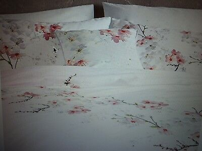 Ted Baker ORIENTAL BLOSSOM  Double  200x200 Floral Duvet Cover Plus Set of 2 Pil