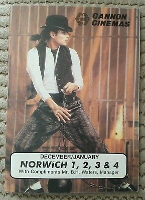 Michael Jackson Moonwalker Cannon Cinema booklet from Norwich City 1988. Rare MJ