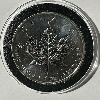 1999 Canadian Maple Leaf 1 Troy Oz .9999 Fine Silver Ag Collectible Canada Coin