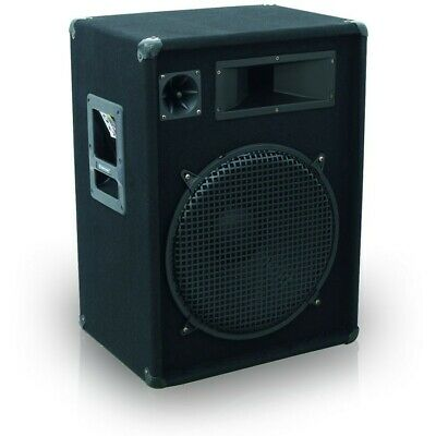 "PA Lautsprecher Einzel Box DJ Party Bühne 800W 15"" Subwoofer Hifi Big Light"