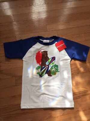 NWT Hanna Andersson Boys Swimming Top Rushguard Size 120