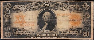Circulated SCARCE Fr. 1181 Vernon-Treat 1906 $20 *GOLD CERTIFICATE*! B11469795