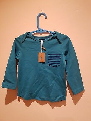 Joules kids turquoise t shirt BNWT size 12-18 months