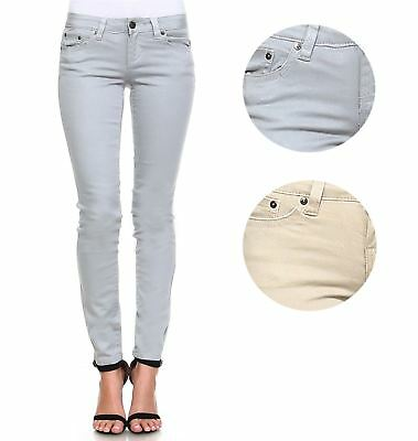Request Jeans Juniors Metallic Pants Skinny Mid-Rise Stretch Trendy Jeans