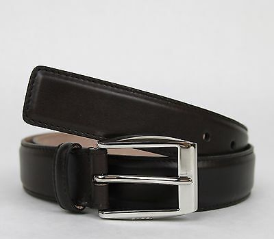 9d03fc6ba51 New Gucci Men s Dark Brown Leather Belt Classic Square Buckle 100 40 336831  2140