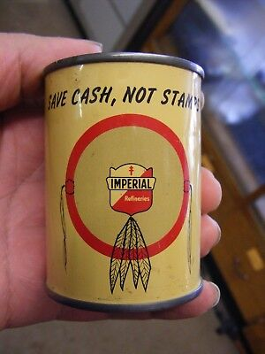 vintage imperial refineries oil can bank