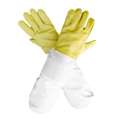 Beekeepers Bee Gloves Yellow Soft Goatskin Leather Protective Gloves 50cm