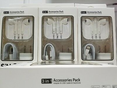 Iphone Charger & Headset 3 in 1 kit