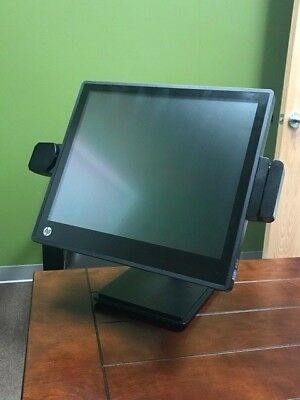 "HP RP7800 17""Terminal Core i3 w/Custom Stand,4GB RAM,160GB HD,Windows,2D Scanner"