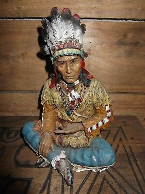 Native American Indian Chief , Resin Statue Figure  sioux