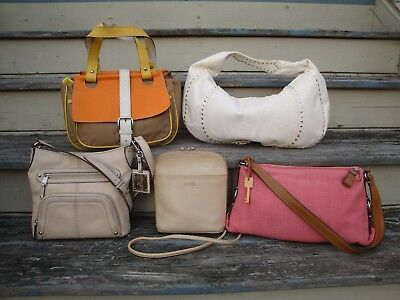 Fossil Tignanello Kooba Lot Summer Spring Handbags Leather Canvas Purse Resale